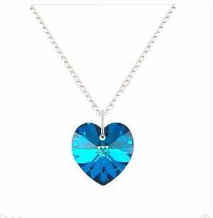 Collar Corazón Azul Titanic Cristal Swarovski 14mm