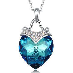 Collar Corazón Con Cristales Swarovski +envío Gratis