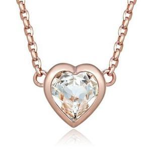 Collar Corazon Con Cristales Swarovski + Envío Gratis