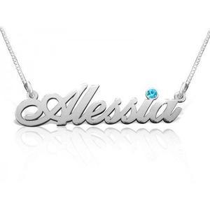 Collar(dije, Cadena) Nombre En Plata 950 Personalizado