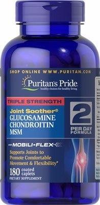 Glucosamine Chondroitin Msm 180 Cápsulas Importada Usa