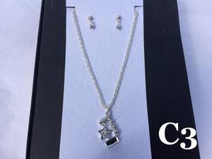 Joyas Set Collar + Aretes Bañados En Oro Y Plata