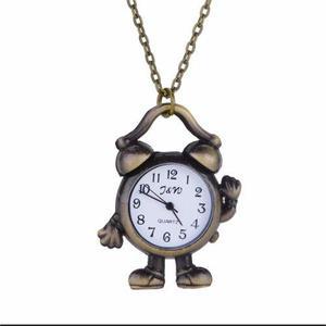 Navidad Regalo Reloj Collar De Metal Con Cadena Alto Relieve