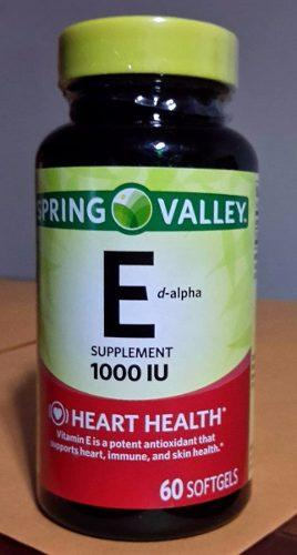Vitamina E Natural De 1000iu Para La Piel *100 Softgels*
