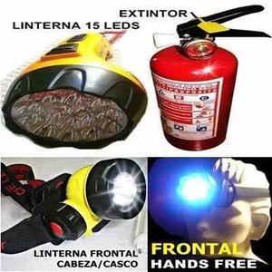 Extintor Pqs Abc Mas 2 Linternas Led Auto Casa Y Emergencias