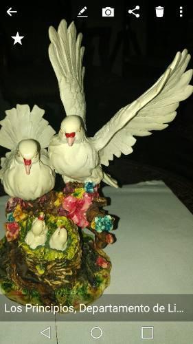 Figuras De Palomas En Porcelana Argentina Decorar Casa.egp.