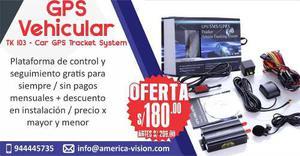 Gps Vehicular + Plataforma De Rastreo Y Control Gratis