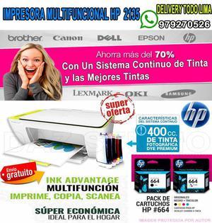 Impresora ** multifuncional hp  ** / con sistema