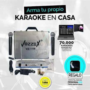 Karaoke En Casa 2 Micrófonos Inalambricos, Envió Gratis