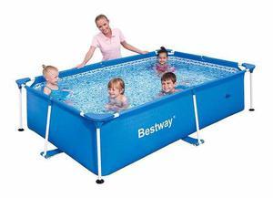Bestway piscina familiar inflable azul rectangular posot for Piscina inflable rectangular