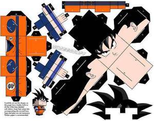 Cubeecraft Dragon Ball Z Pack Goku Y Vegeta Para Armar