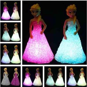 Frozen Disney Ana Elsa Lampara Luminosa Nocturna Decorativo
