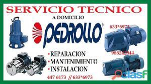SERVICIO TECNICO BOMBA DE AGUA PEDROLLO 6750837