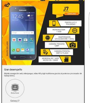Samsung Galaxy J7 4g 16gb 13mpx 1.5gb Rm