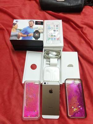 Vendo Iphone 5s Gold Libre De Fabrica Mas Reloj Logic