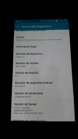 Galaxy J7 Vendo O Cambio por Note 4