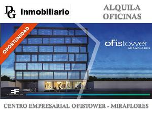 ALQUILER DE OFICINA DE OFICINA DE 192 M2 EN MIRAFLORES
