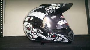 Casco De Moto Cross Deportivo Con Luna Incorporada