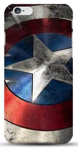 Case Funda Marvel - Iphone 6 6s Modelo Escudo Capitan Americ