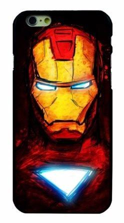 Case Funda Marvel - Iphone 6 6s Modelo Iron Man Perfil