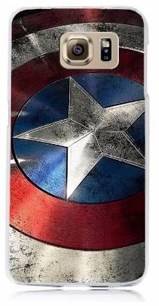 Case Funda Marvel - Samsung Galaxy S7 Escudo Capitan America