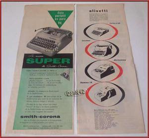 Dante42 Publicidad Antigua Retro Maquina Escribir 1955