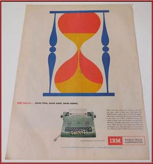 Dante42 Publicidad Antigua Retro Maquina Escribir Ibm 1958