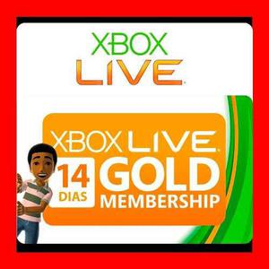 Membresia Microsoft Xbox Live Gold 14 Dias - Xbox One Y 360