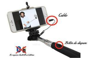 Monopod Selfie Stick con Conector de Cable y Boton