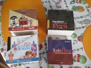 Se venden colecciones de CDs: enciclopedias El Comercio y