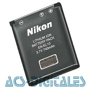 Bateria En-el10 Para Camaras Digitales Nikon Compatible