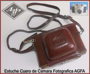 Dante42 Estuche Antiguo Cuero Camara Fotografica Agfa
