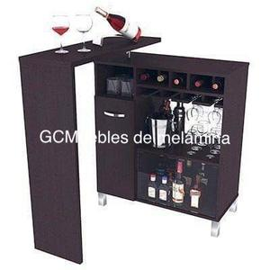 Bar melamina mini bar posot class for Bar licorera de madera para sala