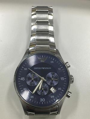 e465dd09d44 Reloj emporio armani plateado