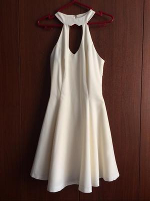 Vestido Color Perla Talla Xs