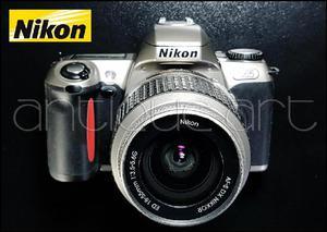 A64 Camara Nikon N65 Pelicula 35mm Lente 1855 Af Flash
