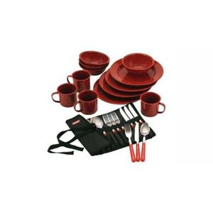 Coleman set de 24 pzas platos y cubiertos posot class for Set de platos