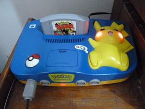 Consola Pikachu Y Mando Nintendo 64
