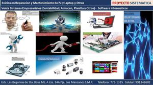 Servicios Técnico de Pc y Laptop a domicilio segun el