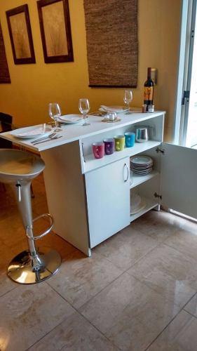 Mueble Mesa Auxiliar De Cocina Con Repisa Modelo Isla