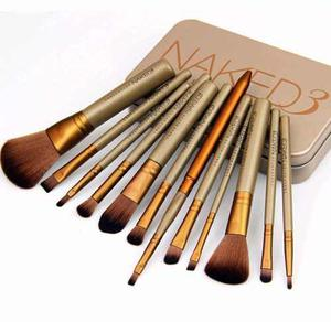 Naked 3 Brochas Brushes Urban Decay Estuche Metalico X12pzas