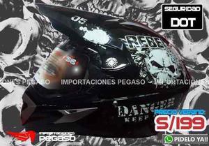 Casco Moto Cross Con Mica K1 Certificacion Dot S/199 Pegaso