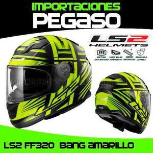 Casco Para Moto Ls2 Ff352 Bang Amarillo S/319 Pegaso