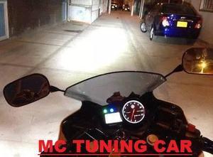 Foco Led H4 Luz Blanca De 4000l Reales Para Motocicletas