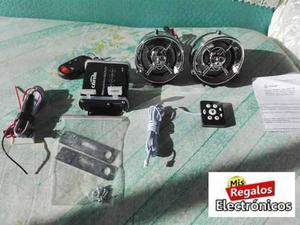 Reproductor Mp3 Bluetooth Usb Radio Alarma C/ Parlantes Moto
