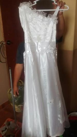 Vestido Blanco Solo Un Uso
