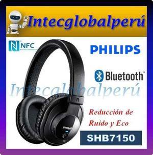 Audífono Bluetooth Philips Shb7150 Nfc Con Cable De 3.5mm