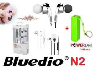 Audífono Hands Free Bluetooth Estéreo + Power Bank 2600