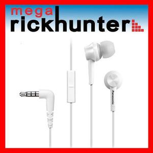 Audifono Handsfree Panasonic Rp-tcm105 Android Iphone Blanco