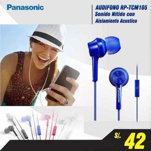 Audifono Panasonic Con Handsfree, Sonido Nitido, P/android
